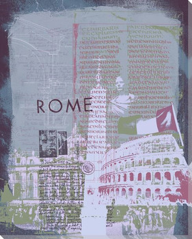 Rome Sight Seeing I Wrapped Canvas Giclee Print Wall Art