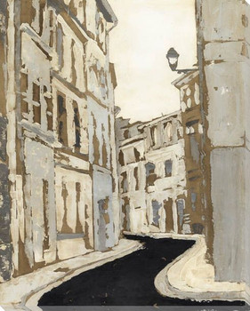 Streets of Paris II Wrapped Canvas Giclee Print Wall Art