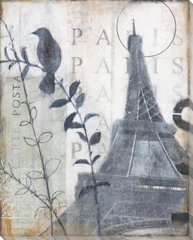 To Wake up in Paris Wrapped Canvas Giclee Print Wall Art