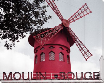 Moulin Rouge Windmill Wrapped Canvas Giclee Print Wall Art
