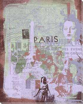 Paris Sight Seeing II Wrapped Canvas Giclee Print Wall Art