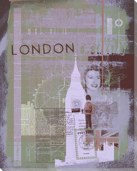 London Sight Seeing IV Wrapped Canvas Giclee Print Wall Art