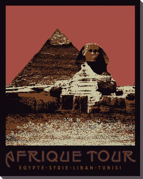 Egypt Pyramid Travelogue Wrapped Canvas Giclee Print Wall Art