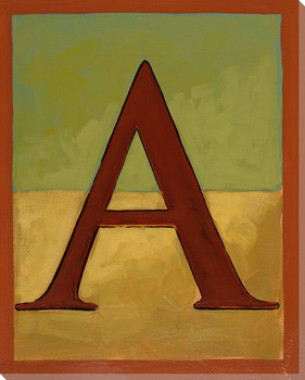 Block Letter A Wrapped Canvas Giclee Print Wall Art