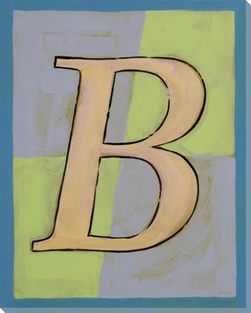 Block Letter B Wrapped Canvas Giclee Print Wall Art