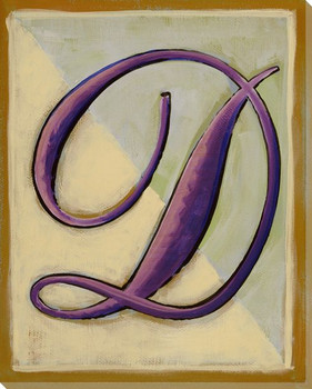 Block Letter D Wrapped Canvas Giclee Print Wall Art