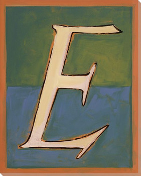 Block Letter E Wrapped Canvas Giclee Print Wall Art