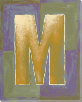 Block Letter M Wrapped Canvas Giclee Print Wall Art