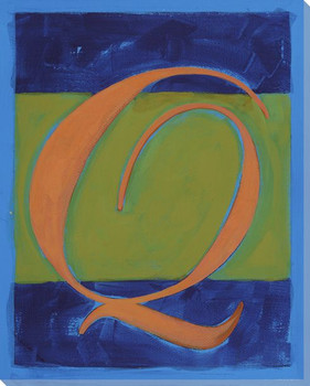 Block Letter Q Wrapped Canvas Giclee Print Wall Art