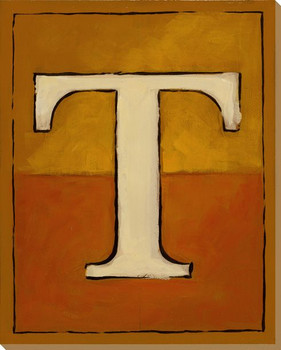 Block Letter T Wrapped Canvas Giclee Print Wall Art