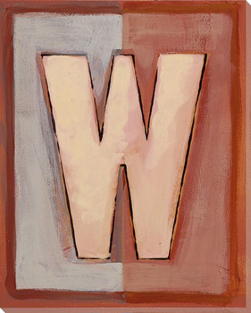Block Letter W Wrapped Canvas Giclee Print Wall Art