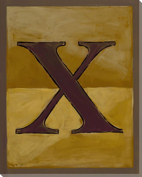 Block Letter X Wrapped Canvas Giclee Print Wall Art