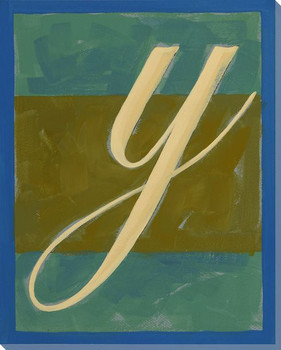 Block Letter Y Wrapped Canvas Giclee Print Wall Art