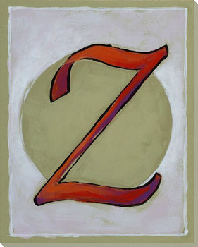 Block Letter Z Wrapped Canvas Giclee Print Wall Art
