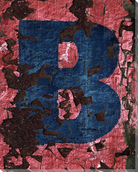 Colorful Letter B Wrapped Canvas Giclee Print Wall Art