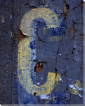 Colorful Letter C Wrapped Canvas Giclee Print Wall Art