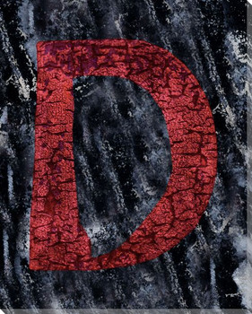 Colorful Letter D Wrapped Canvas Giclee Print Wall Art