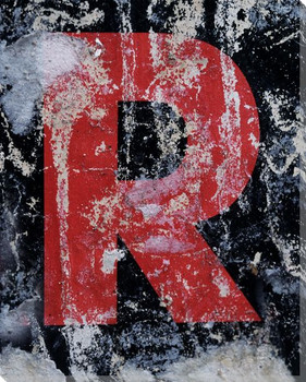 Colorful Letter R Wrapped Canvas Giclee Print Wall Art