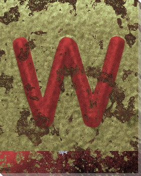 Colorful Letter W Wrapped Canvas Giclee Print Wall Art