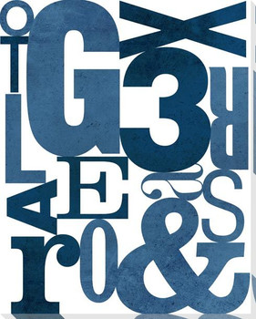 Typo Graphic 1 Wrapped Canvas Giclee Art Print Wall Art