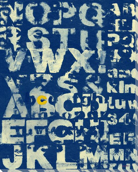 Blue See with Letter C Wrapped Canvas Giclee Print Wall Art