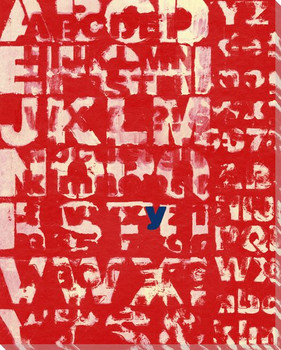 Red Why? with Letter Y Wrapped Canvas Giclee Print Wall Art