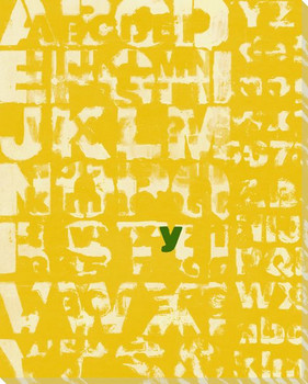 Yellow Why? with Letter Y Wrapped Canvas Giclee Print Wall Art