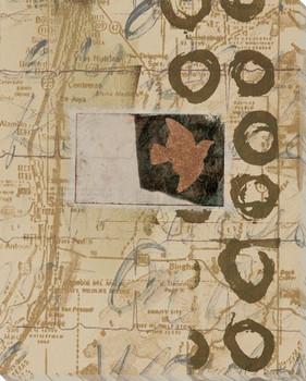 Mapped Treasure III Wrapped Canvas Giclee Print Wall Art