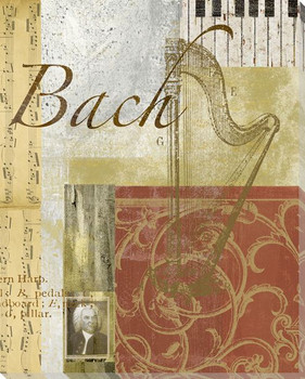 Bach Wrapped Canvas Giclee Print Wall Art