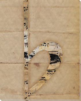 B Flat Wrapped Canvas Giclee Print Wall Art