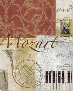 Mozart Wrapped Canvas Giclee Print Wall Art