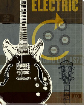 Guitar I Wrapped Canvas Giclee Print Wall Art