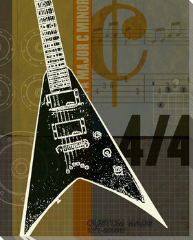 Guitar II Wrapped Canvas Giclee Print Wall Art