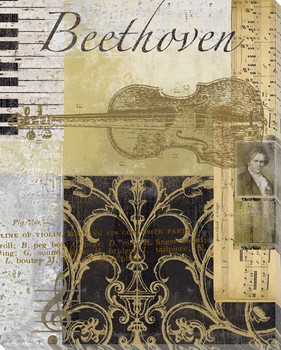 Beethoven Wrapped Canvas Giclee Print Wall Art