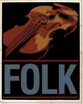 Folk Music Wrapped Canvas Giclee Print Wall Art