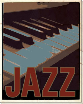 Jazz Music Wrapped Canvas Giclee Print Wall Art