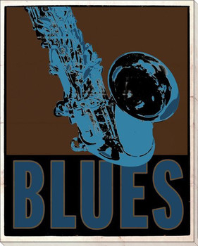 Blues Music Wrapped Canvas Giclee Print Wall Art