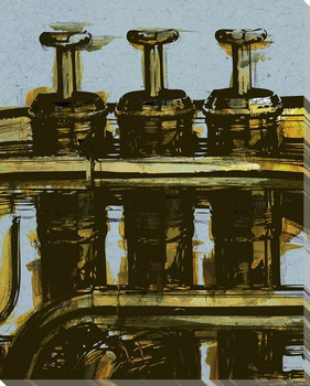 Trumpet Riff One Wrapped Canvas Giclee Print Wall Art