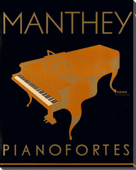 Manthey Pianofortes Wrapped Canvas Giclee Print Wall Art