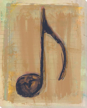 Musical Symbol Eighth Note Wrapped Canvas Giclee Print Wall Art