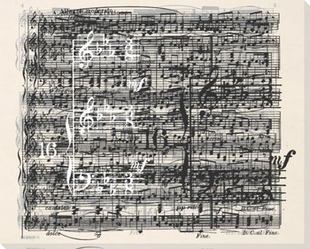 Discord Black and White Music I Wrapped Canvas Giclee Print Wall Art