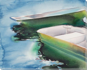 Two Boats Wrapped Canvas Giclee Print Wall Art