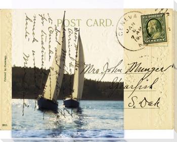 Sailboat I Wrapped Canvas Giclee Print Wall Art
