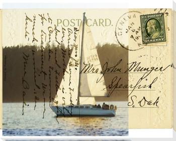 Sailboat II Wrapped Canvas Giclee Print Wall Art