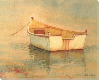Boat at Rest Wrapped Canvas Giclee Print Wall Art