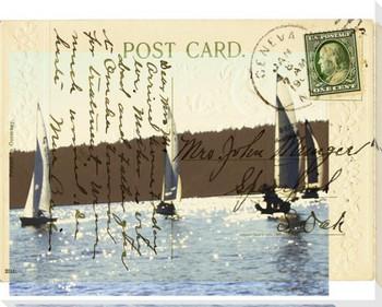 Sailboat III Wrapped Canvas Giclee Print Wall Art