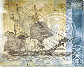 Schooner Boat Wrapped Canvas Giclee Print Wall Art