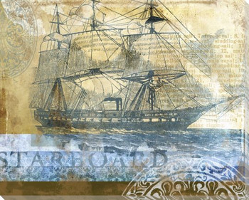 Starboard Boat Wrapped Canvas Giclee Print Wall Art