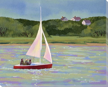 Sailing Chatham Wrapped Canvas Giclee Print Wall Art
