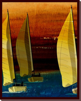 Sailing Skies Two Wrapped Canvas Giclee Print Wall Art